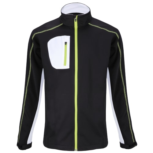 Woodworm Golf Full Zip Soft Shell Jacket - Black