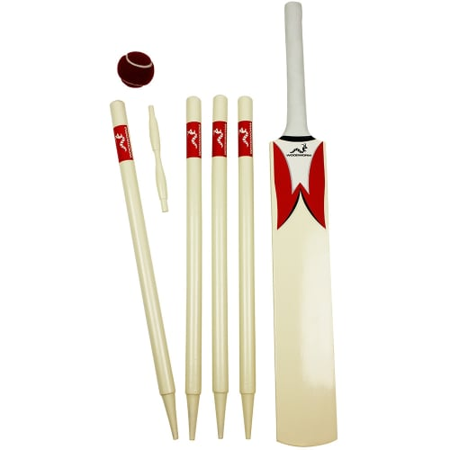 Woodworm Junior Cricket Set - Red Size 6