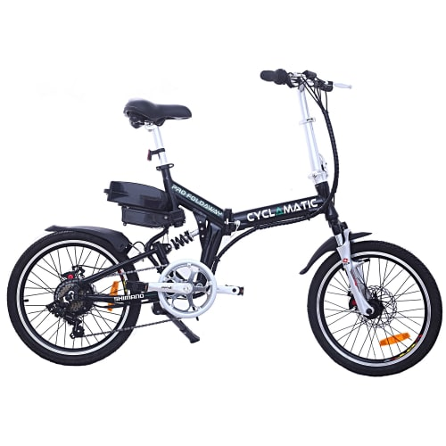 OPEN BOX Cyclamatic CX4 Pro Suspension Foldaway Electric Bike Black