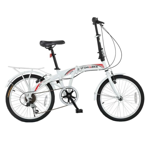 Stowabike Folding City V3 Compact Bike Red / White
