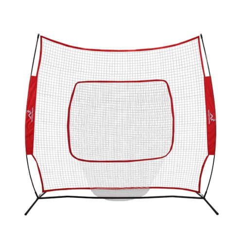 Woodworm Baseball and Softball 7ft x 7ft Practice Net - Quick Set up with Carrying Case