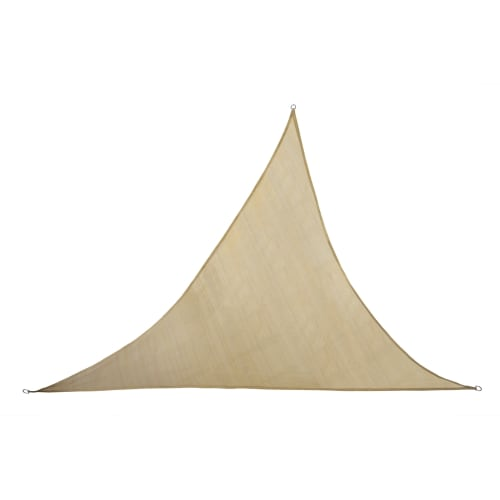 Palm Springs Deluxe 16.5' Outdoor Sun Sail Shade Triangle Canopy with Ropes