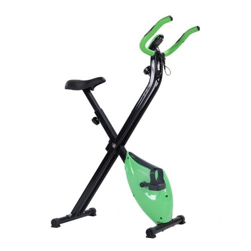 Confidence Fitness Folding Exercise X Bike Green