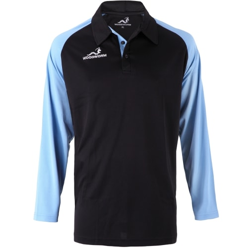 Woodworm Pro Cricket Long Sleeve Shirt Sky Blue