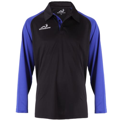 Woodworm Pro Cricket Long Sleeve Shirt Royal Blue