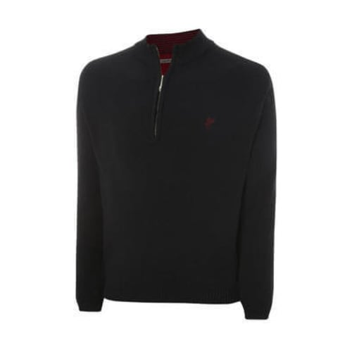 Ashworth Half Zip Sweater Mens Blk