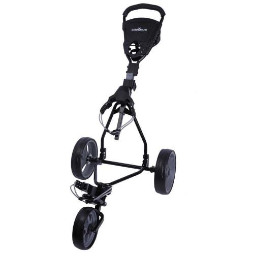 OPEN BOX Caddymatic Junior Golf Cart - 3 Wheel Folding Cart for Kids- Black/Grey
