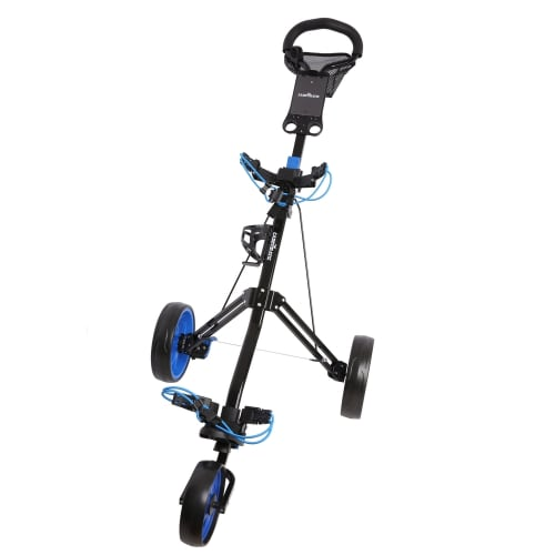 Caddymatic Golf Pro Lite 3 Wheel Golf Cart Black/Blue