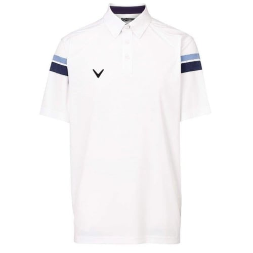 Callaway Fairway Polo Engineered Stripe - White