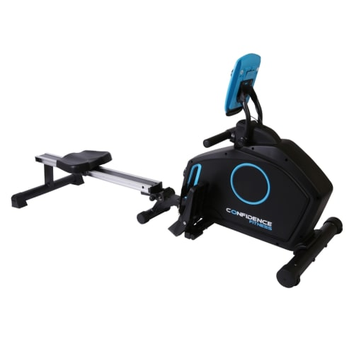 Confidence Fitness RowTec Rower Magnetic Rowing Machine with Variable Resistance