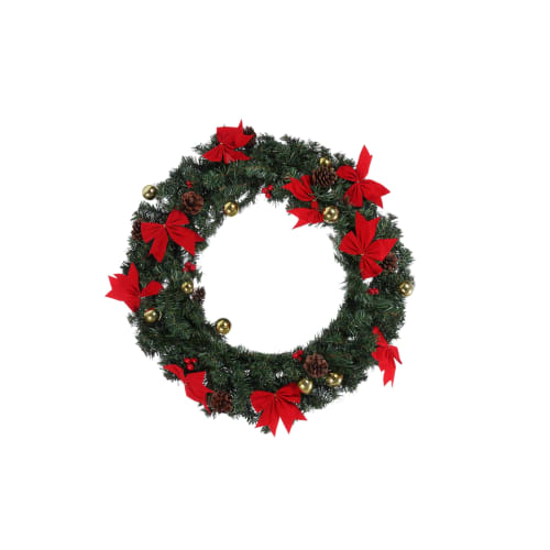 "Homegear 24"" Decorated Christmas Wreath"