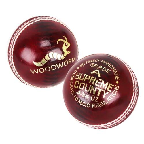 6 x Woodworm Junior Supreme 4 ¾oz Cricket Ball