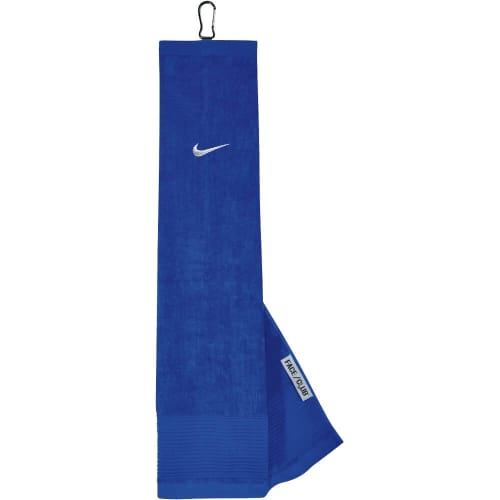Nike Golf Face/Club Trifold Golf Towel-Blue