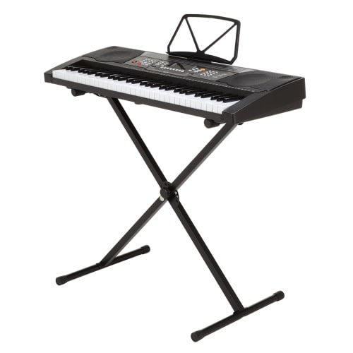 OPEN BOX Homegear Musical Instruments 61 Key Electronic Piano Keyboard with Stand