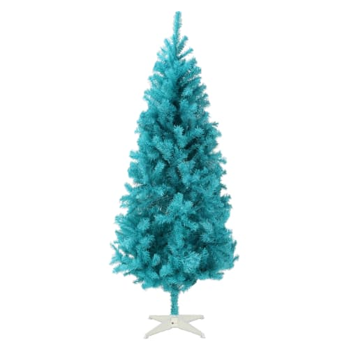 OPEN BOX Homegear 6FT Artificial Turquoise Christmas Tree