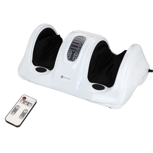 Homegear Electric Foot Massager Machine with Remote Control - White