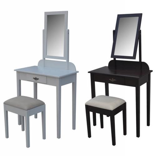 Homegear Vienna Dressing Table, Mirror & Stool Set