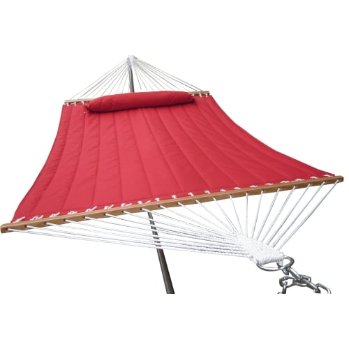 OPEN BOX Palm Springs Quilted Hammock Red