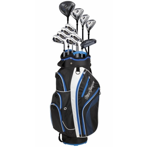 MacGregor DCT2000 Premium 1 Inch Longer Golf Graphite/Steel Package Set with Titanium Driver and Stainless Clubs - Regular Flex