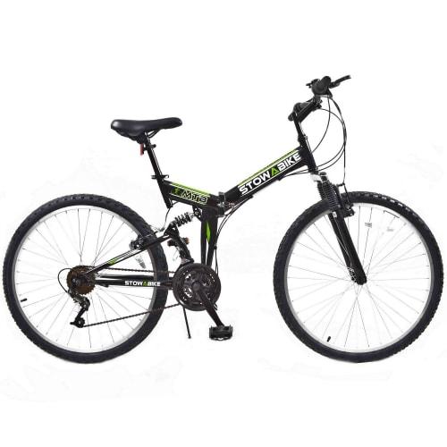 OPEN BOX Stowabike Folding MTB V2 Mountain Bike Black / Green