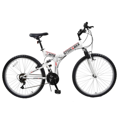OPEN BOX Stowabike Folding MTB V2 Mountain Bike Red / White