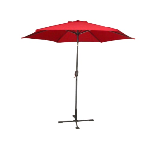 OPEN BOX Palm Springs 9ft Aluminium Patio Umbrella w/ Tilt Red