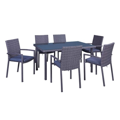 Palm Springs 7-Piece Outdoor Wicker Style Dining Set