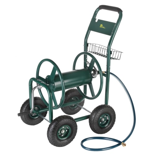 OPEN BOX Palm Springs Heavy Duty Garden Hose Reel Cart