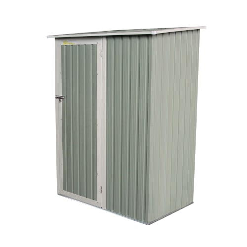 "OPEN BOX Palm Springs Metal Galvanized Steel Backyard Garden Storage Shed - 4'6"" x 3'"