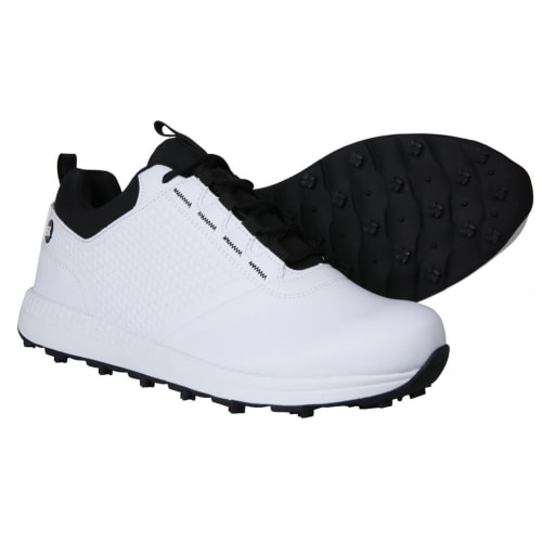 Ram Golf Accubar Mens Golf Shoes, White/Black