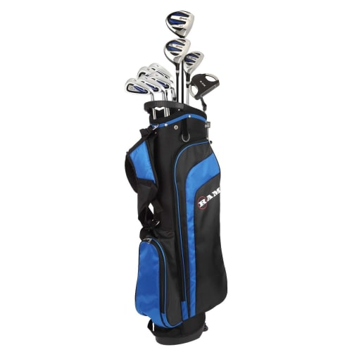"Ram Golf EZ3 Mens -1"" Shorter Golf Clubs Set with Stand Bag - Graphite/Steel Shafts"