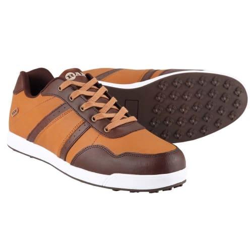 OPEN BOX Ram FX Comfort Mens Waterproof Golf Shoes - Brown