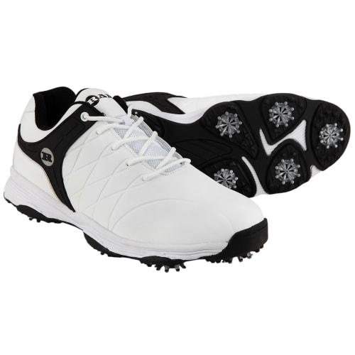 Ram Golf FX Tour Mens Waterproof Golf Shoes - White / Black
