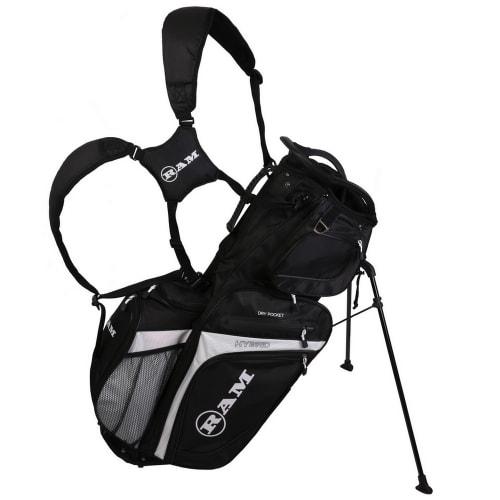 Ram Golf Hybrid Stand / Trolley Golf Bag with 14 Way Divider