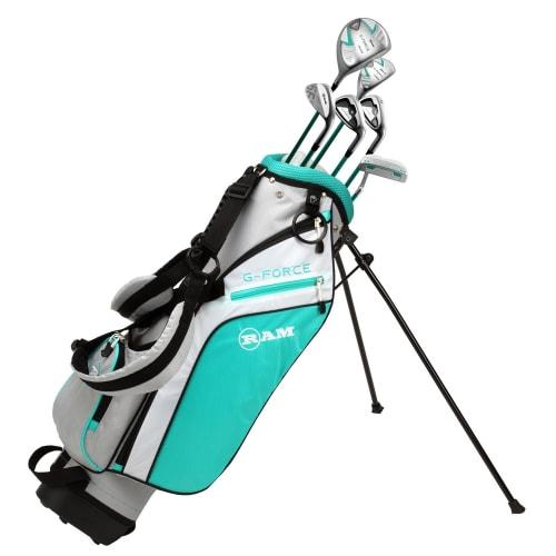 Ram Golf Junior G-Force Girls Golf Clubs Set with Bag Age 7-9