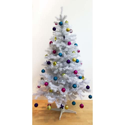 Homegear 6ft White Artificial Christmas Tree