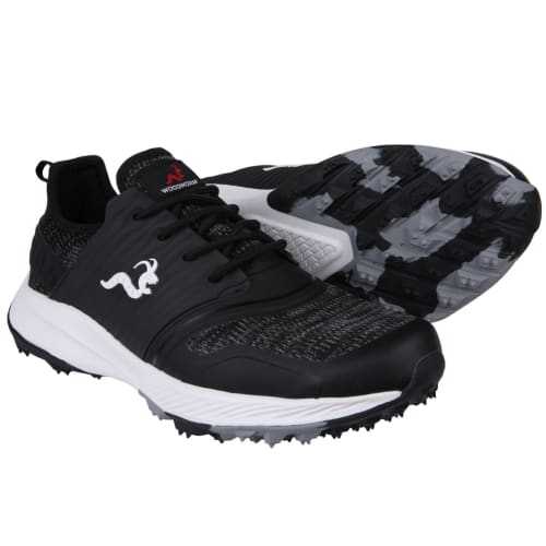 Woodworm Flame Mens Golf Shoes - Sneaker/Trainer Style - Black