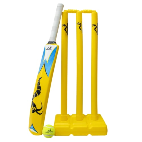 Woodworm Cricket Beach / Yard / Park Set with Bat, Stump and Ball