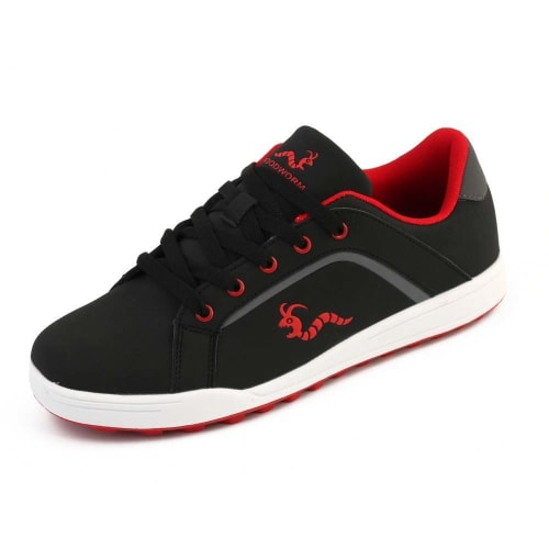 Woodworm Golf Surge V3 Mens Waterproof Golf Shoes Black/Red