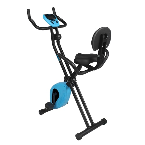 ZAAP Fitness Folding Recumbent Upright Exercise Bike - Black/Blue