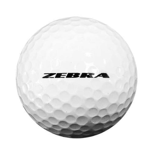 12 Zebra Long 2 Piece Golf Balls