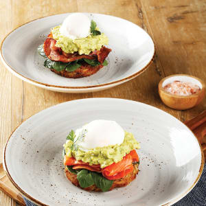 POTATO ROSTI with Smashed Avo & Feta
