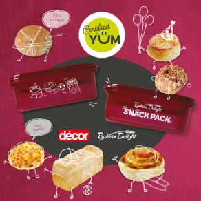 Buy Certified Yum to receive a FREE Decor sandwich lunchbox