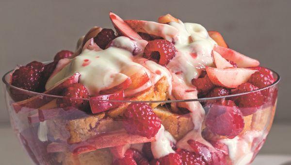 Berry Nectarine Trifle