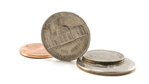 FIVE-CENT COINS WEREN'T ALWAYS NICKELS