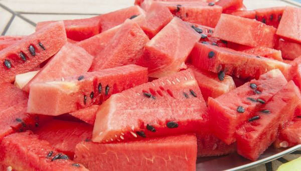 44. Watermelon chunks
