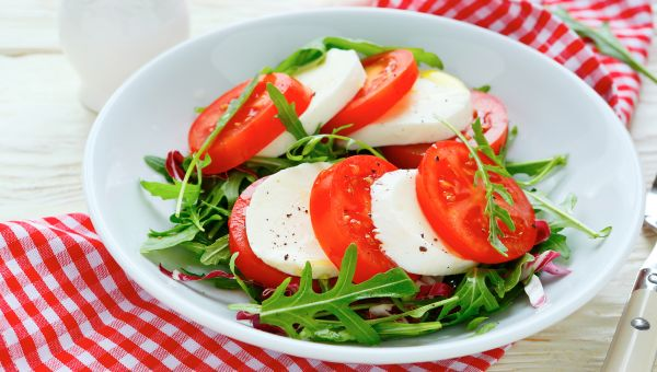 68. Tomato, mozzarella and balsamic vinegar