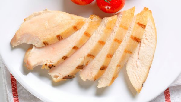 72. Grilled chicken slices