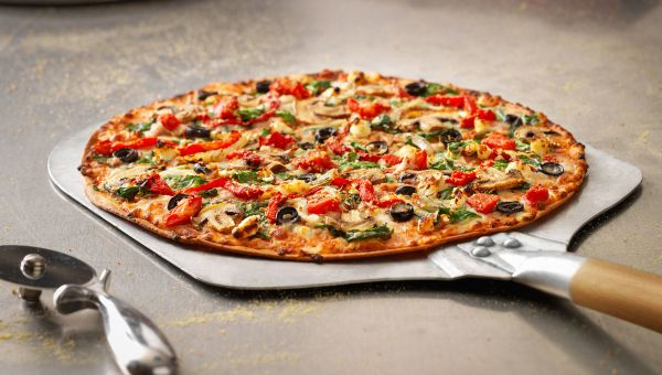 Dominos: Thin Crust Veggie Pizza