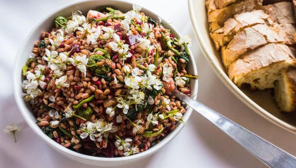 Warm Farro with Feta